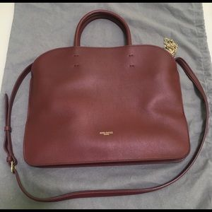Nina Ricci Elide Red Leather Satchel Shoulder Bag